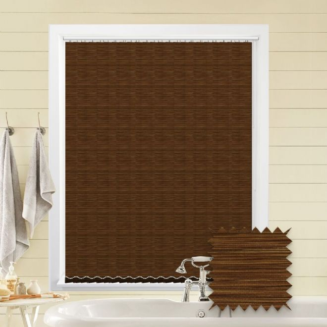 Made to Measure Morocco Russet Vertical Blind - Just Blinds